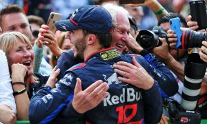Gasly celebrates 'dream' first podium with Toro Rosso