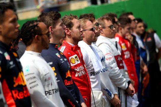 Sebastian Vettel (GER) Ferrari SF90.17.11.2019. Formula 1 World Championship, Rd 20, Brazilian Grand Prix, Sao Paulo, Brazil, Race Day.- www.xpbimages.com, EMail: requests@xpbimages.com © Copyright: Batchelor / XPB Images