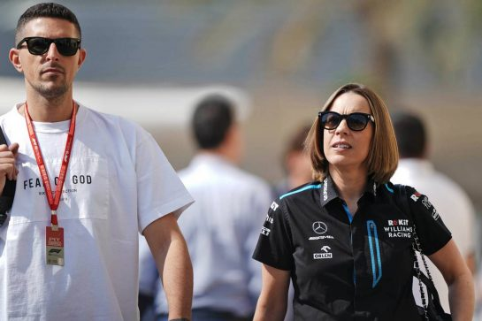 Claire Williams (GBR) Williams Racing Deputy Team Principal with her husband Marc Harris (GBR). 29.11.2019. Formula 1 World Championship, Rd 21, Abu Dhabi Grand Prix, Yas Marina Circuit, Abu Dhabi, Practice Day. - www.xpbimages.com, EMail: requests@xpbimages.com © Copyright: Dungan / XPB Images