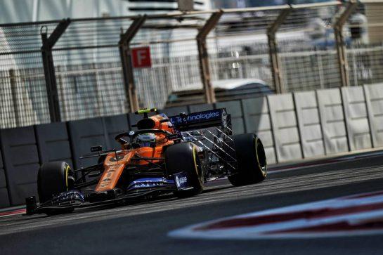 Lando Norris (GBR) McLaren MCL34. 29.11.2019. Formula 1 World Championship, Rd 21, Abu Dhabi Grand Prix, Yas Marina Circuit, Abu Dhabi, Practice Day. - www.xpbimages.com, EMail: requests@xpbimages.com © Copyright: Dungan / XPB Images