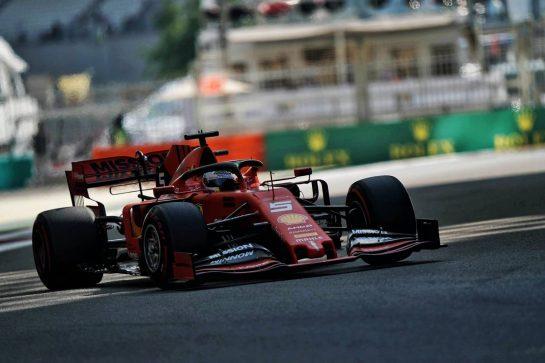 Sebastian Vettel (GER) Ferrari SF90. 29.11.2019. Formula 1 World Championship, Rd 21, Abu Dhabi Grand Prix, Yas Marina Circuit, Abu Dhabi, Practice Day.  - www.xpbimages.com, EMail: requests@xpbimages.com © Copyright: Dungan / XPB Images