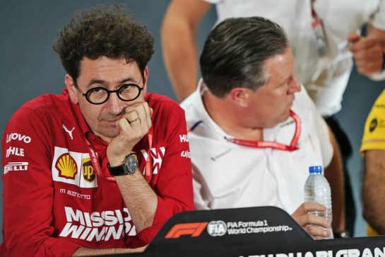 Mattia Binotto (ITA) Ferrari Team Principal in the FIA Press Conference. 29.11.2019. Formula 1 World Championship, Rd 21, Abu Dhabi Grand Prix, Yas Marina Circuit, Abu Dhabi, Practice Day. - www.xpbimages.com, EMail: requests@xpbimages.com © Copyright: Dungan / XPB Images