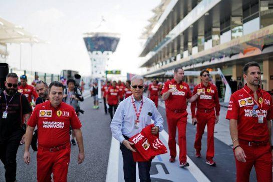 Piero Ferrari (ITA) Ferrari Vice-President. 30.11.2019. Formula 1 World Championship, Rd 21, Abu Dhabi Grand Prix, Yas Marina Circuit, Abu Dhabi, Qualifying Day.  - www.xpbimages.com, EMail: requests@xpbimages.com © Copyright: Dungan / XPB Images