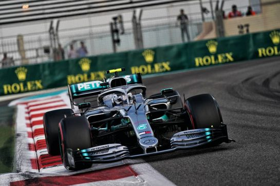 Valtteri Bottas (FIN) Mercedes AMG F1 W10. 30.11.2019. Formula 1 World Championship, Rd 21, Abu Dhabi Grand Prix, Yas Marina Circuit, Abu Dhabi, Qualifying Day.  - www.xpbimages.com, EMail: requests@xpbimages.com © Copyright: Dungan / XPB Images