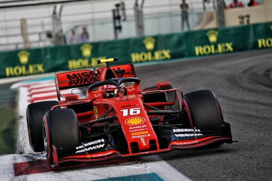 Charles Leclerc (MON) Ferrari SF90. 30.11.2019. Formula 1 World Championship, Rd 21, Abu Dhabi Grand Prix, Yas Marina Circuit, Abu Dhabi, Qualifying Day.  - www.xpbimages.com, EMail: requests@xpbimages.com © Copyright: Dungan / XPB Images