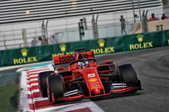 Sebastian Vettel (GER) Ferrari SF90. 30.11.2019. Formula 1 World Championship, Rd 21, Abu Dhabi Grand Prix, Yas Marina Circuit, Abu Dhabi, Qualifying Day.  - www.xpbimages.com, EMail: requests@xpbimages.com © Copyright: Dungan / XPB Images