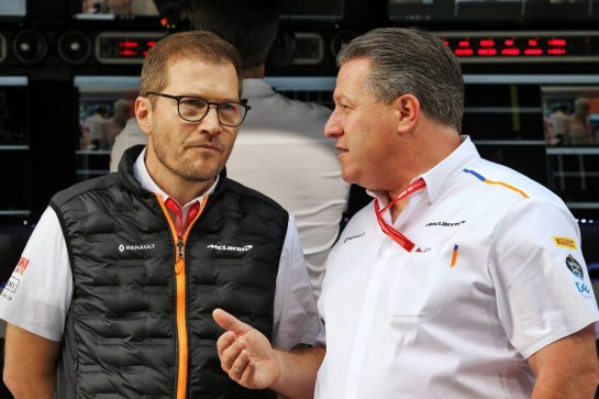 (L to R): Andreas Seidl, McLaren Managing Director with Zak Brown (USA) McLaren Executive Director.