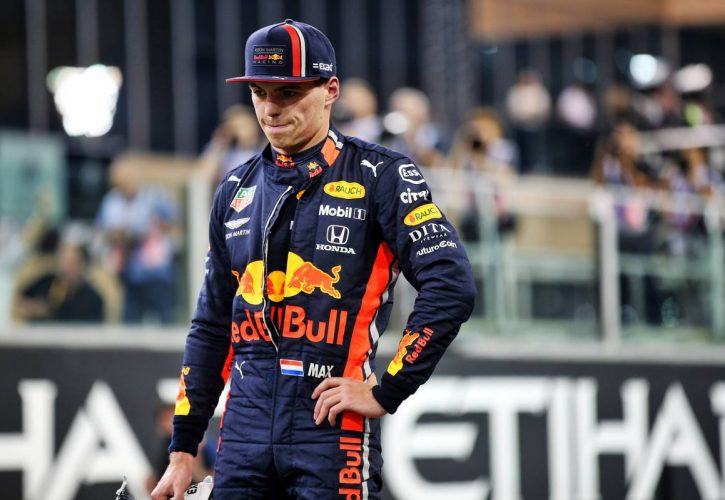 Max Verstappen (NLD) Red Bull Racing in qualifying parc ferme. 30.11.2019.