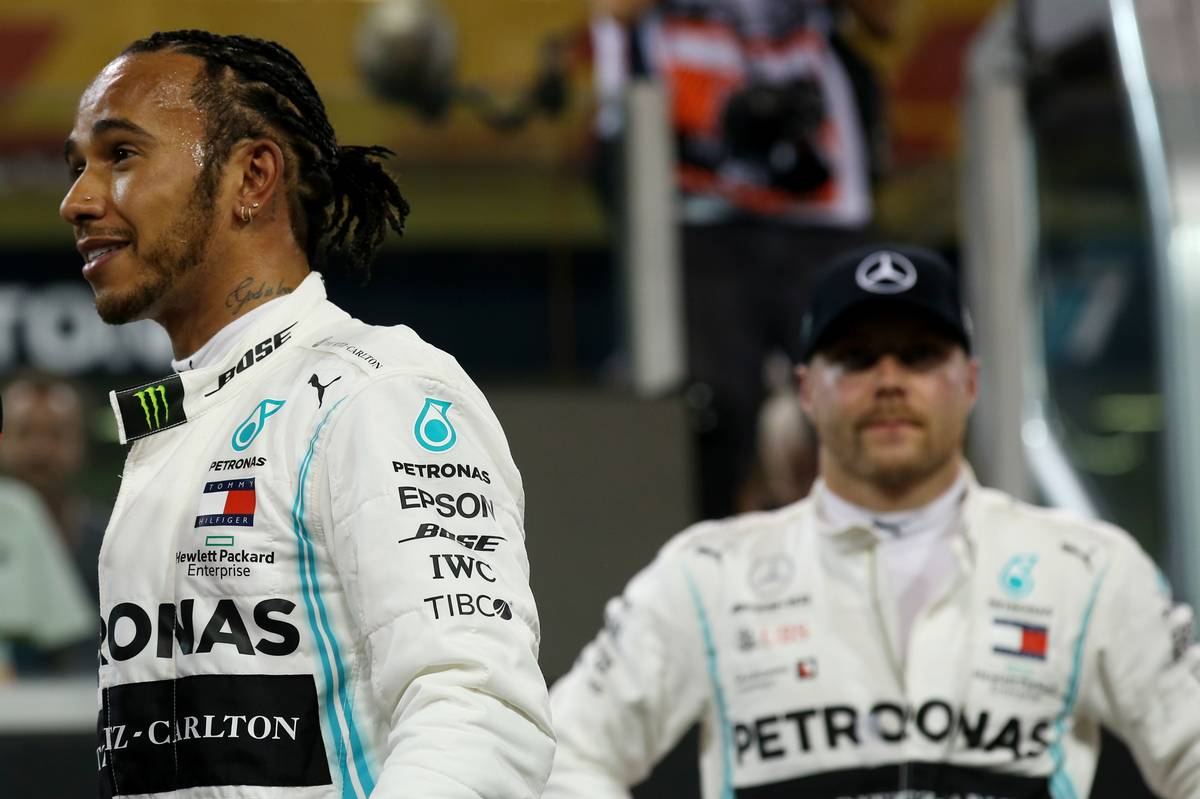 Pole for Lewis Hamilton (GBR) Mercedes AMG F1 W10. and 2nd for Valtteri Bottas (FIN) Mercedes AMG F1 W10.