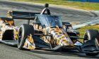 Arrow McLaren SP's 2020 IndyCar entry has been aeroscreen testing at Sebring, sporting a rather fetching 'camouflage' livery for the occasion.