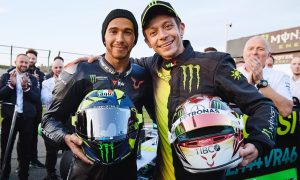 Hamilton: 'So cool to see Valentino ahead of me on the same bike'