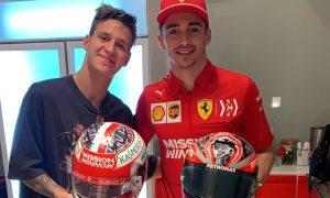 Leclerc and Quartararo enjoy helmet swap