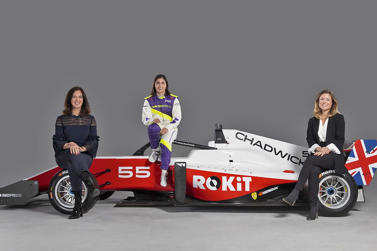 Jamie Chadwick's 2020 car with ROKiT branding