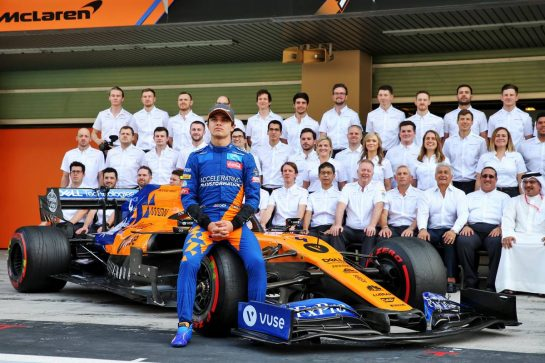 Lando Norris (GBR) McLaren at a team photograph.