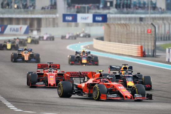 Charles Leclerc (MON) Ferrari SF90. 01.12.2019. Formula 1 World Championship, Rd 21, Abu Dhabi Grand Prix, Yas Marina Circuit, Abu Dhabi, Race Day. - www.xpbimages.com, EMail: requests@xpbimages.com © Copyright: Charniaux / XPB Images