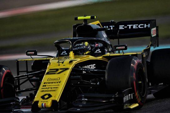Nico Hulkenberg (GER) Renault F1 Team RS19. 01.12.2019. Formula 1 World Championship, Rd 21, Abu Dhabi Grand Prix, Yas Marina Circuit, Abu Dhabi, Race Day.  - www.xpbimages.com, EMail: requests@xpbimages.com © Copyright: Dungan / XPB Images