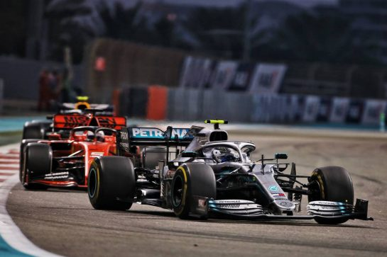 Valtteri Bottas (FIN) Mercedes AMG F1 W10. 01.12.2019. Formula 1 World Championship, Rd 21, Abu Dhabi Grand Prix, Yas Marina Circuit, Abu Dhabi, Race Day. - www.xpbimages.com, EMail: requests@xpbimages.com © Copyright: Charniaux / XPB Images