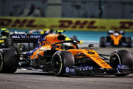 Lando Norris (GBR) McLaren MCL34. 01.12.2019. Formula 1 World Championship, Rd 21, Abu Dhabi Grand Prix, Yas Marina Circuit, Abu Dhabi, Race Day. - www.xpbimages.com, EMail: requests@xpbimages.com © Copyright: Charniaux / XPB Images