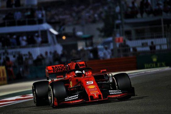 Sebastian Vettel (GER) Ferrari SF90. 01.12.2019. Formula 1 World Championship, Rd 21, Abu Dhabi Grand Prix, Yas Marina Circuit, Abu Dhabi, Race Day. - www.xpbimages.com, EMail: requests@xpbimages.com © Copyright: Batchelor / XPB Images
