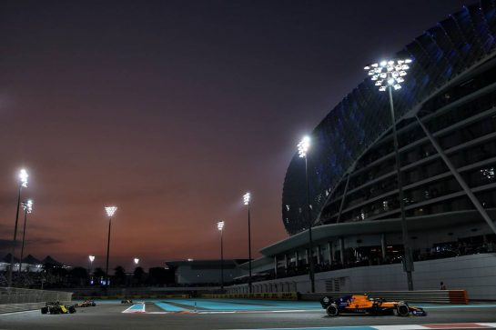Lando Norris (GBR) McLaren MCL34. 01.12.2019. Formula 1 World Championship, Rd 21, Abu Dhabi Grand Prix, Yas Marina Circuit, Abu Dhabi, Race Day. - www.xpbimages.com, EMail: requests@xpbimages.com © Copyright: Batchelor / XPB Images