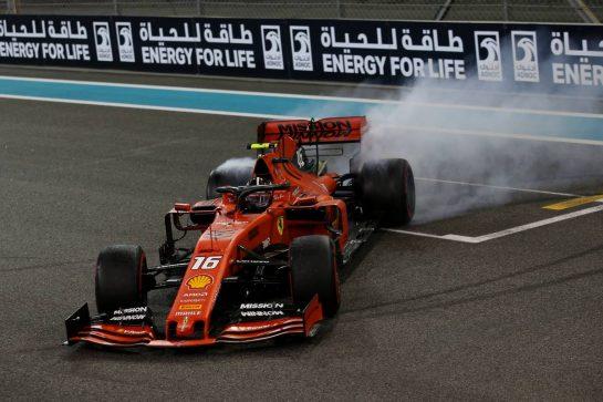 Charles Leclerc (MON) Ferrari SF90.01.12.2019. Formula 1 World Championship, Rd 21, Abu Dhabi Grand Prix, Yas Marina Circuit, Abu Dhabi, Race Day.- www.xpbimages.com, EMail: requests@xpbimages.com © Copyright: Batchelor / XPB Images