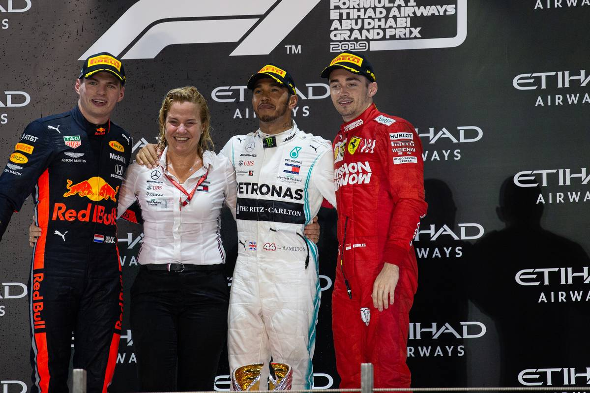 The podium at Abu Dhabi