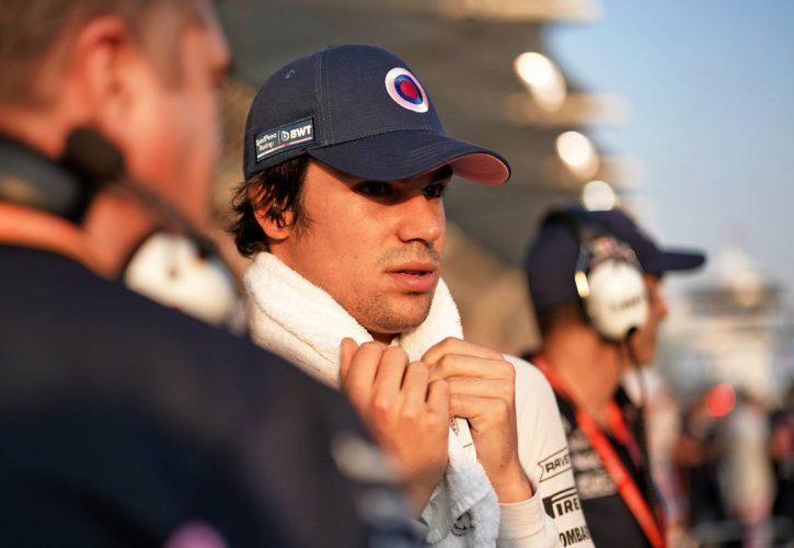 Lance Stroll (CDN) Racing Point F1 Team on the grid.