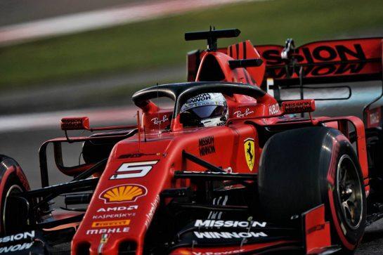Sebastian Vettel (GER) Ferrari SF90. 01.12.2019. Formula 1 World Championship, Rd 21, Abu Dhabi Grand Prix, Yas Marina Circuit, Abu Dhabi, Race Day.  - www.xpbimages.com, EMail: requests@xpbimages.com © Copyright: Dungan / XPB Images