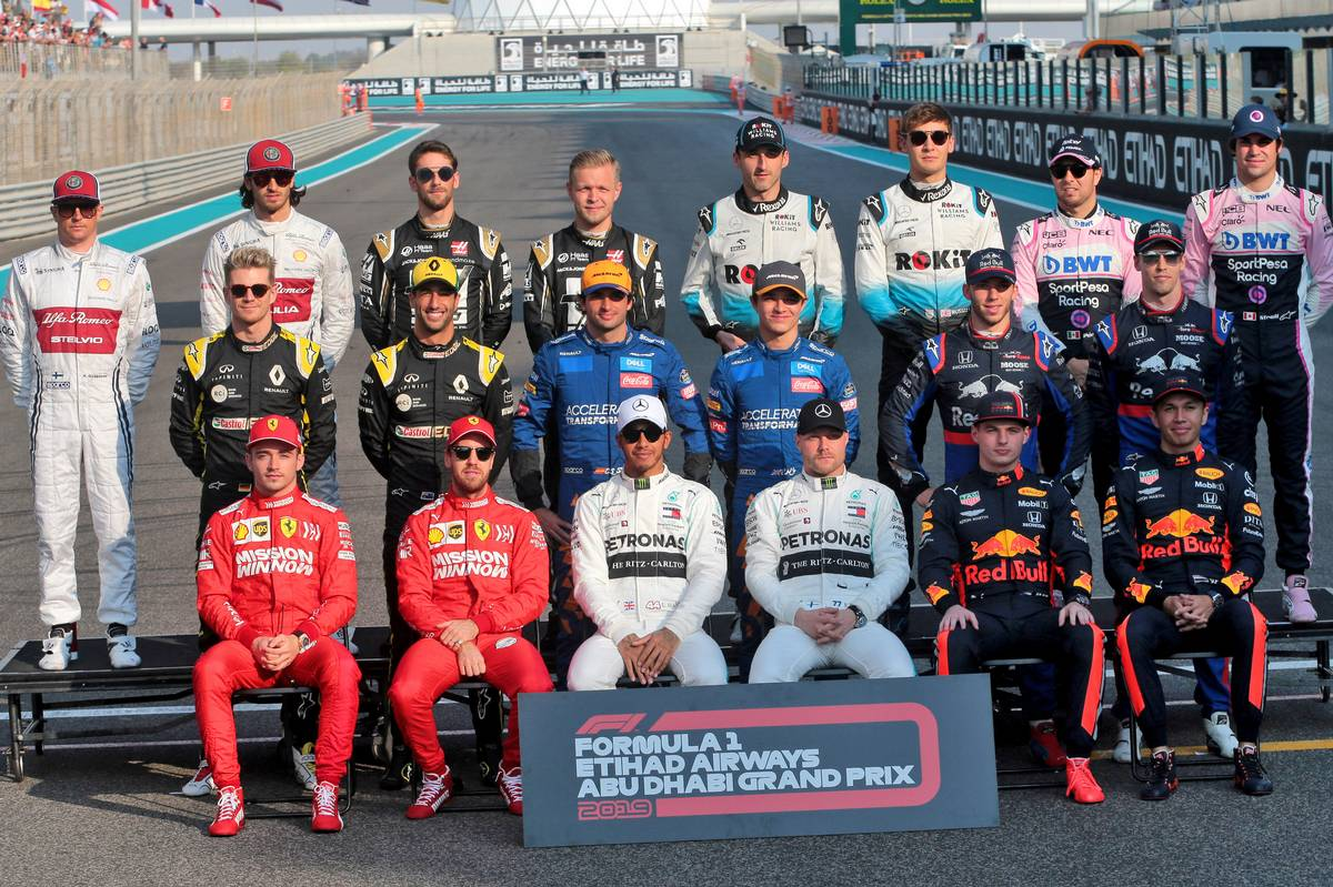 Drivers end of season photograph. 01.12.2019.