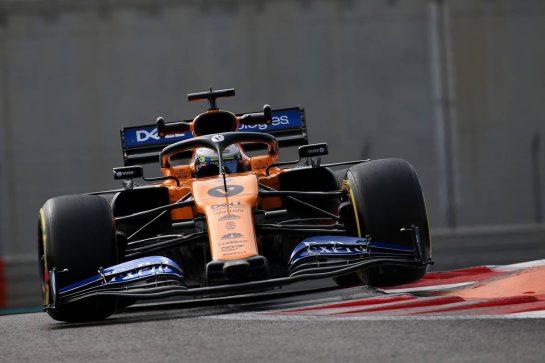 Lando Norris (GBR) McLaren MCL34.03.12.2019. Formula 1 Testing, Yas Marina Circuit, Abu Dhabi, Tuesday. - www.xpbimages.com, EMail: requests@xpbimages.com © Copyright: Batchelor / XPB Images