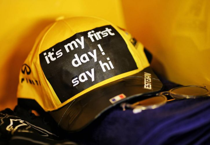 Cap worn by Esteban Ocon (FRA) Renault F1 Team.