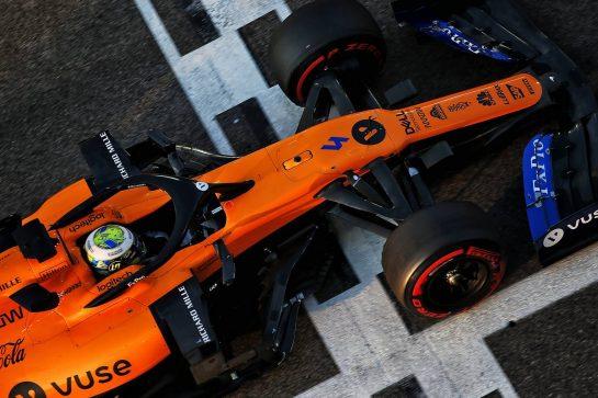Lando Norris (GBR) McLaren MCL34. 03.12.2019. Formula 1 Testing, Yas Marina Circuit, Abu Dhabi, Tuesday. - www.xpbimages.com, EMail: requests@xpbimages.com © Copyright: Batchelor / XPB Images
