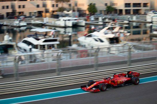 Sebastian Vettel (GER) Ferrari SF90. 03.12.2019. Formula 1 Testing, Yas Marina Circuit, Abu Dhabi, Tuesday.  - www.xpbimages.com, EMail: requests@xpbimages.com © Copyright: Bearne / XPB Images