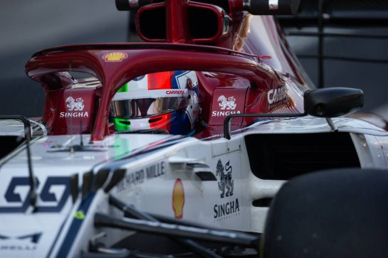 Antonio Giovinazzi (ITA) Alfa Romeo Racing C38. 04.12.2019. Formula 1 Testing, Yas Marina Circuit, Abu Dhabi, Wednesday.  - www.xpbimages.com, EMail: requests@xpbimages.com © Copyright: Bearne / XPB Images