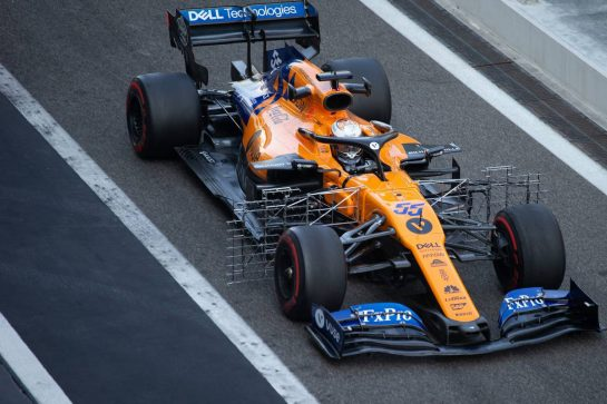 Carlos Sainz Jr (ESP) McLaren MCL34. 04.12.2019. Formula 1 Testing, Yas Marina Circuit, Abu Dhabi, Wednesday.  - www.xpbimages.com, EMail: requests@xpbimages.com © Copyright: Bearne / XPB Images