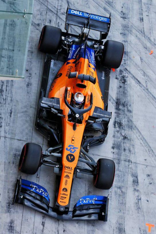 Carlos Sainz Jr (ESP) McLaren MCL34. 04.12.2019. Formula 1 Testing, Yas Marina Circuit, Abu Dhabi, Wednesday. - www.xpbimages.com, EMail: requests@xpbimages.com © Copyright: Batchelor / XPB Images