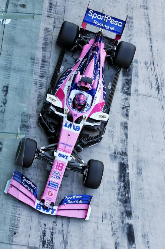Lance Stroll (CDN) Racing Point F1 Team RP19. 04.12.2019. Formula 1 Testing, Yas Marina Circuit, Abu Dhabi, Wednesday. - www.xpbimages.com, EMail: requests@xpbimages.com © Copyright: Batchelor / XPB Images