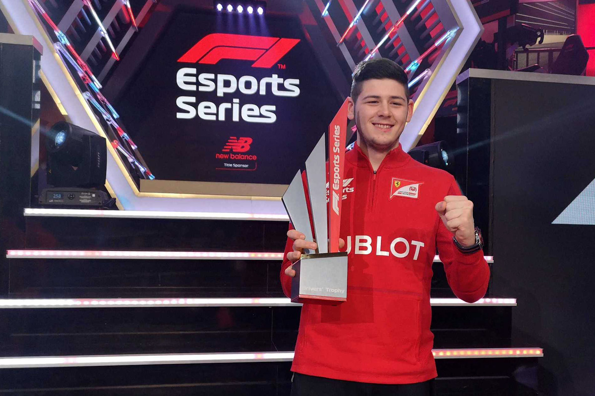 2019 F1 New Balance eSports Pro Series drivers champion David Tonizza
