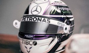 Lewis Hamilton opts for purple 'reign'