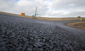 Zandvoort's banking gets its first layer of tarmac