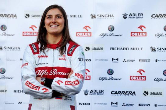 Tatiana Calderon (COL) Alfa Romeo Racing Development Driver. 19.02.2020. Formula One Testing, Day One, Barcelona, Spain. Wednesday. - www.xpbimages.com, EMail: requests@xpbimages.com © Copyright: Batchelor / XPB Images