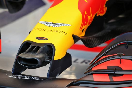 Red Bull Racing RB16 nosecone detail. 19.02.2020. Formula One Testing, Day One, Barcelona, Spain. Wednesday. - www.xpbimages.com, EMail: requests@xpbimages.com © Copyright: Batchelor / XPB Images