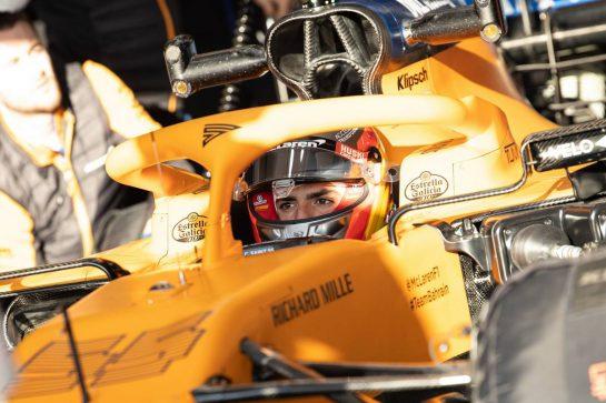 Carlos Sainz Jr (ESP) McLaren MCL35. 19.02.2020. Formula One Testing, Day One, Barcelona, Spain. Wednesday. - www.xpbimages.com, EMail: requests@xpbimages.com © Copyright: Bearne / XPB Images