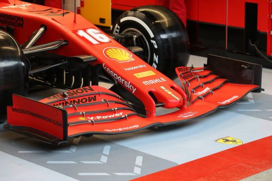 Ferrari Front Wing nose cone. 19.02.2020. Formula One Testing, Day One, Barcelona, Spain. Wednesday. - www.xpbimages.com, EMail: requests@xpbimages.com © Copyright: Batchelor / XPB Images