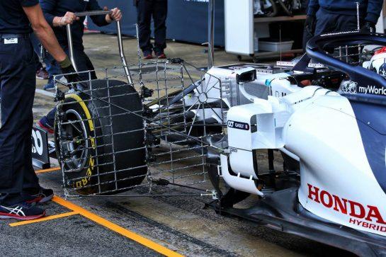 Daniil Kvyat (RUS) AlphaTauri AT01. 20.02.2020. Formula One Testing, Day Two, Barcelona, Spain. Thursday. - www.xpbimages.com, EMail: requests@xpbimages.com © Copyright: Batchelor / XPB Images