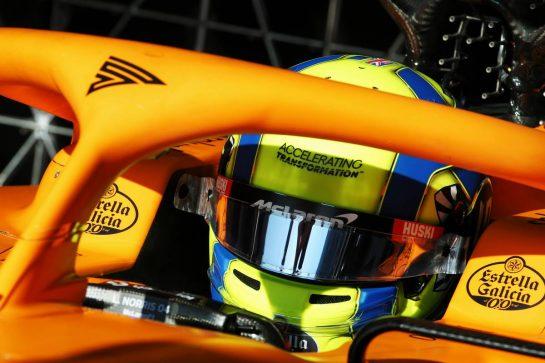 Lando Norris (GBR) McLaren MCL35. 20.02.2020. Formula One Testing, Day Two, Barcelona, Spain. Thursday. - www.xpbimages.com, EMail: requests@xpbimages.com © Copyright: Batchelor / XPB Images