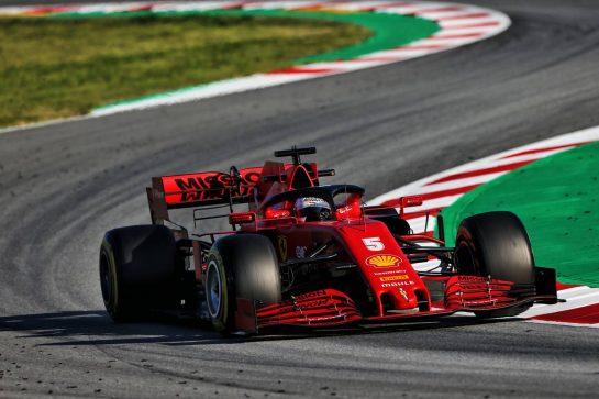 Sebastian Vettel (GER) Ferrari SF1000. 20.02.2020. Formula One Testing, Day Two, Barcelona, Spain. Thursday. - www.xpbimages.com, EMail: requests@xpbimages.com © Copyright: Moy / XPB Images