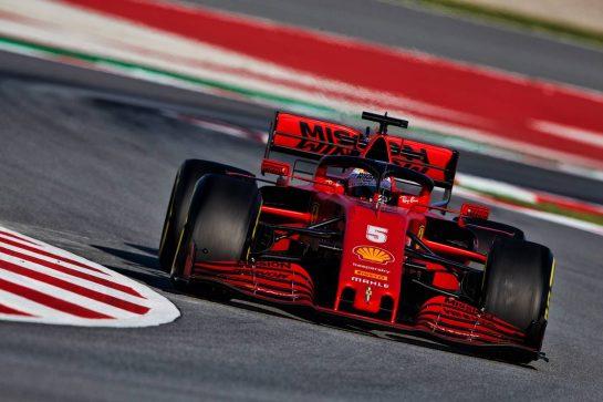 Sebastian Vettel (GER) Ferrari SF1000. 20.02.2020. Formula One Testing, Day Two, Barcelona, Spain. Thursday. - www.xpbimages.com, EMail: requests@xpbimages.com © Copyright: Rew / XPB Images