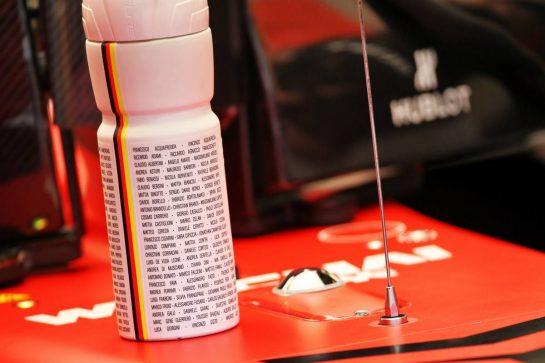 Sebastian Vettel (GER) Ferrari SF1000 - drinks bottle. 21.02.2020. Formula One Testing, Day Three, Barcelona, Spain. Friday. - www.xpbimages.com, EMail: requests@xpbimages.com © Copyright: Batchelor / XPB Images
