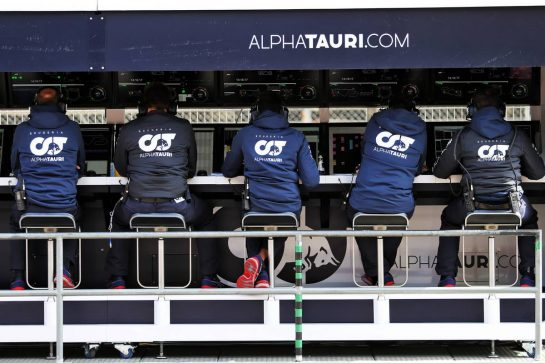 AlphaTauri pit gantry. 28.02.2020. Formula One Testing, Day Three, Barcelona, Spain. Friday. - www.xpbimages.com, EMail: requests@xpbimages.com © Copyright: Moy / XPB Images